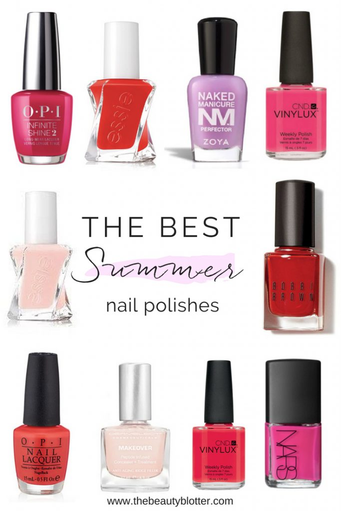 The Best Summer Nail Polish Colors | summer nails, manicure, nail polish, gel, shellac, Essie, OPI, CND, tips, toes, pedicure, bright coral, pink, power red, blue red, shades, fingers, flip flops, nailart
