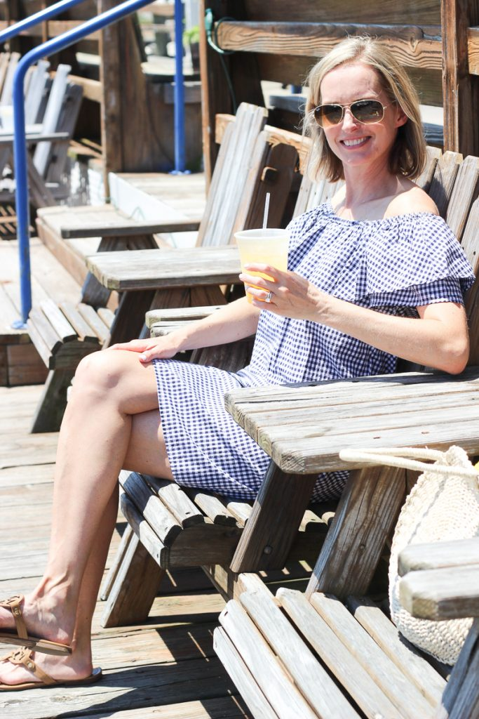 Oh, how I love Gingham and Ruffles | SUMMER OUTFIT IDEA | MODEST, MOM, GINGHAM, RUFFLES, FASHION, VERSATILE, CASUAL CUTE, PREPPY DRESS