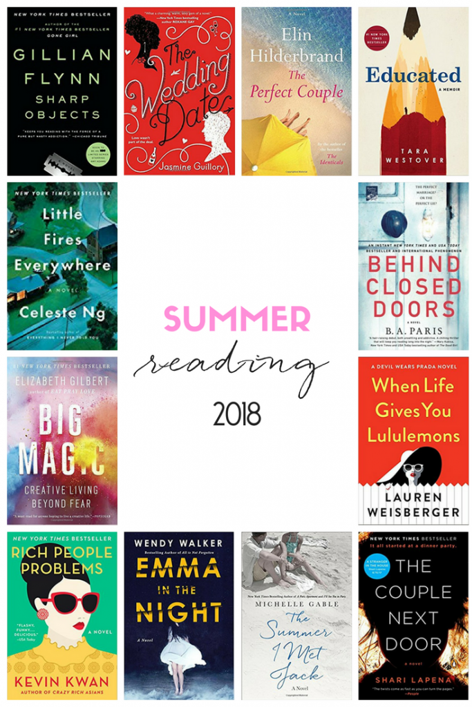 SUMMER READING LIST 2018 || books to read, for women, novels, romance, mystery, historical fiction, life changing, best, true stories, book list