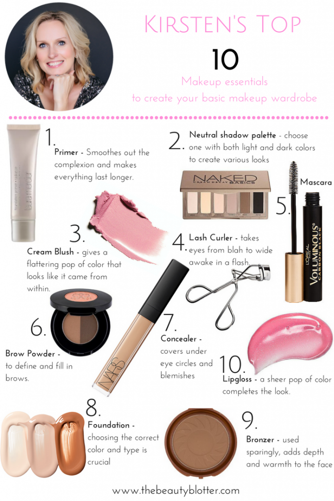 Top 10 Makeup Essentials |Do you find makeup confusing and don't know where to start, or what products to purchase? I am here to help. I share the top 10 makeup essentials you need in your makeup bag to build your basic makeup capsule wardrobe that will help you look and feel your best. | Makeup tips, makeup ideas, makeup tutorial, makeup products, makeup tips, makeup looks, makeup organization, makeup essentials for beginners, list of, makeup must haves, every day, for teens,