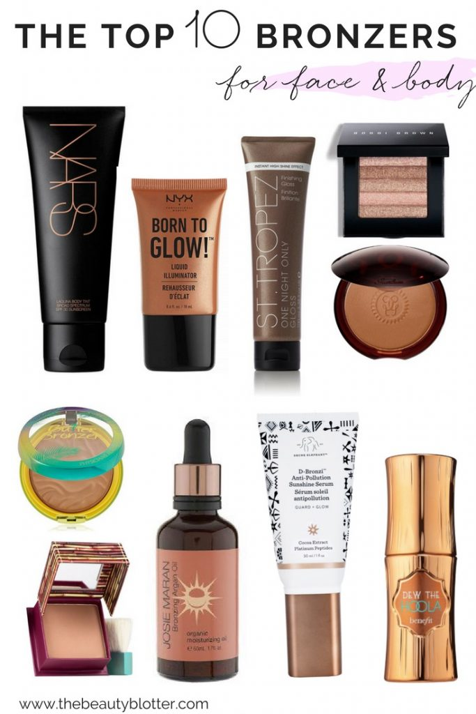 THE TOP 10 BRONZERS FOR FACE & BODY   I am sharing the top 10 bronzers for face and body, including some drugstore & clean options, as well as the perfect choices for us paler gals   DRUGSTORE BRONZER, BRONZER FOR PALE SKIN, TUTORIAL, HOW TO APPLY, POWDER, LIQUID, MATTE, SHIMMER,