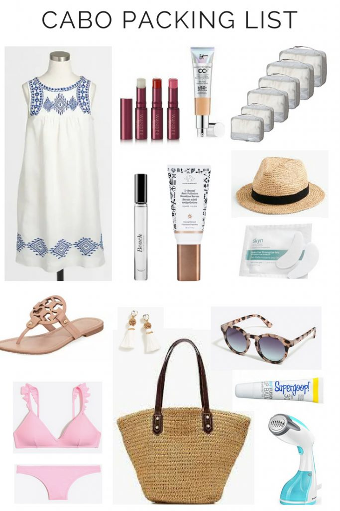 My Beach Vacation Packing List Cabo Trip The Beauty