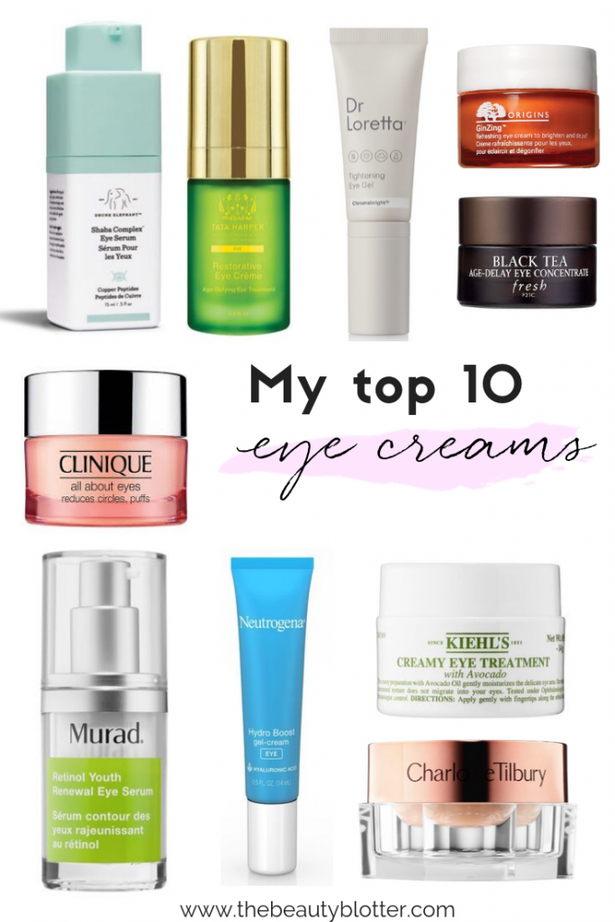 I am sharing my top 10 favorite eye creams including the best drugstore, eye creams and non-toxic eye creams. I share the best eye creams for puffiness & dark circles, as well as the best eye treatments for fine lines and wrinkles.These are the some of the best anti-aging eye creams on the market right now. #eyecreams #antiaging #puffiness #darkcircles
