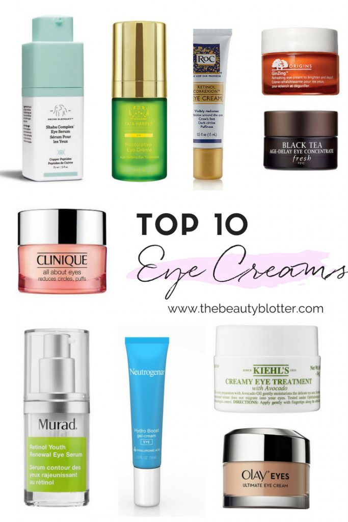 I am sharing my top 10 favorite eye creams you should try, including drugstore, luxury and non-toxic versions. | for wrinkles, anti-aging, 20's, 30's, 40's cheap, affordable, for puffiness, dark circles, natural