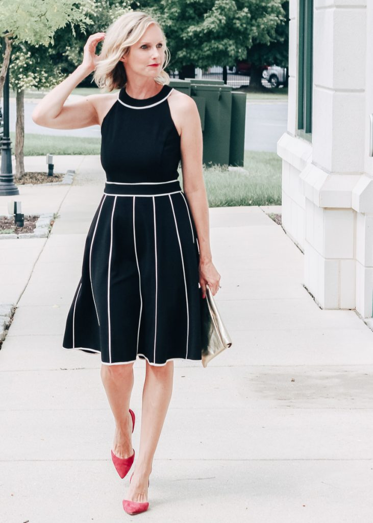 A fancy Date Night Dress. An ultra flattering and versatile jersey crepe dress, perfect for many occasions. | date night outfit ideas, modest fashion, fall fashion, office attire, work outfit ideas,