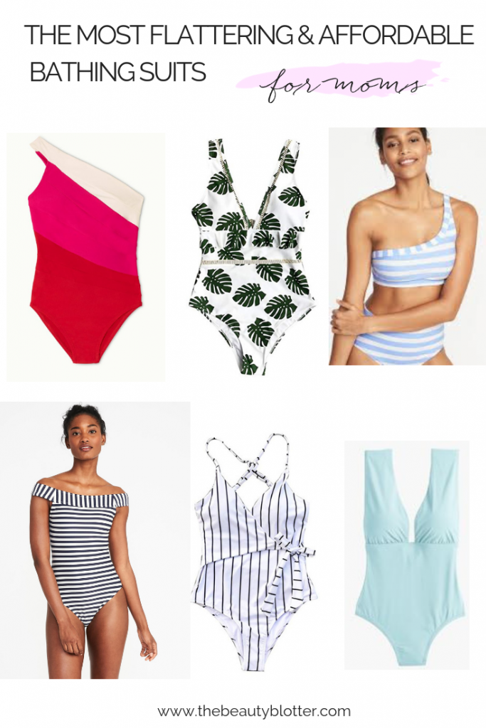 THE MOST FLATTERING & AFFORDABLE BATHING SUITS FOR MOMS | I am sahring some of my best tips for finding a bathing suit you will love, as well as some favorite flattering & affordable options that are mom friendly. | #realoutfit #momoutfit #bathingsuitsformoms #over40style #over40 #bathingsuits