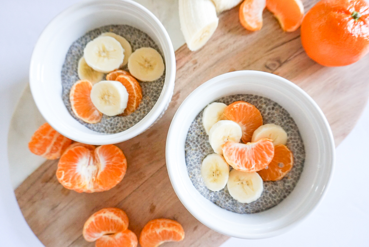 I am sharing an easy and delicious recipe for Orange Creamsicle Chia Pudding on the blog today. It is made with Chia seeds, coconut or almond milk, orange zest and a touch of honey or maple syrup for sweetness. It is so healthy, and contain fiber, protein and healthy fats to keep you feeling full. #FWTFL #vegan #dairyfree #healthyeating #chiapudding #breakfast #healthysnackidea #citrus