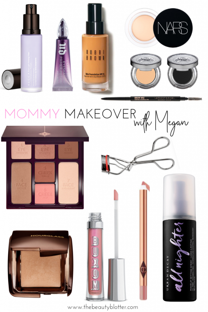 I am sharing a mommy makeover with my friend Megan. We updated her makeup bag and I  shared a few tips & tricks with her to best enhance her feature and look like her best, rested self. #mommymakeover #makeuptutorial #over40 #over40style #makeuplesson #naturalmakeup #naturalmakeuplook