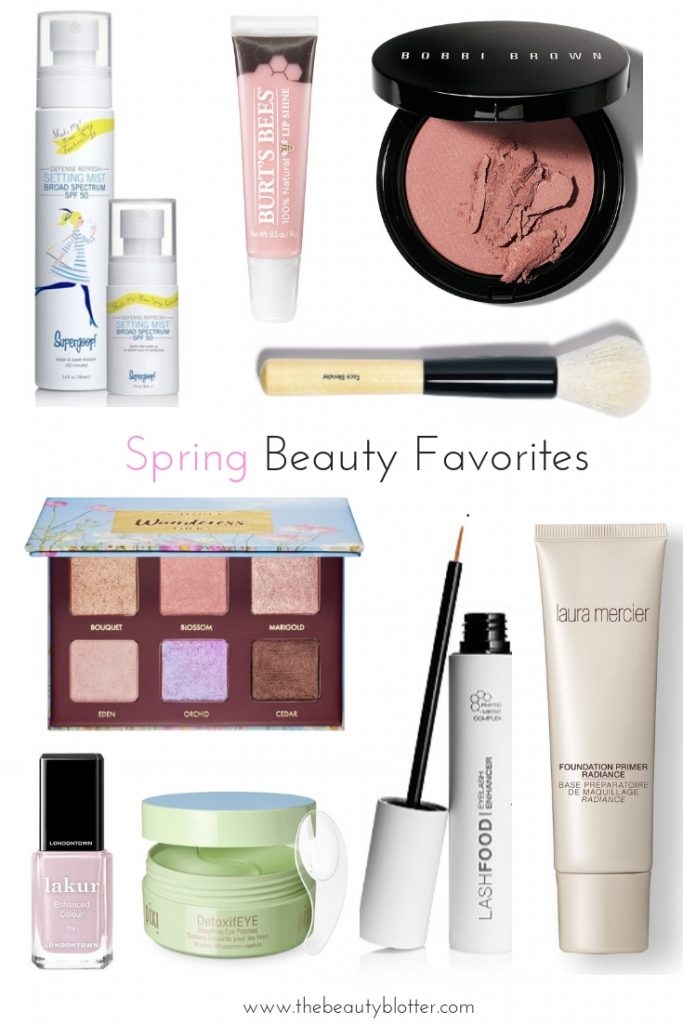 MY TOP 9 SPRING BEAUTY MUST HAVES | I am sharing my favorite spring beauty must haves on the blog, including a great drugstore lip gloss, a pretty pink blush and the easiest way to wear sunscreen every single day.