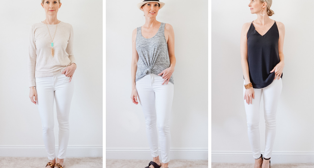 WHITE JEANS STYLED 6 WAYS