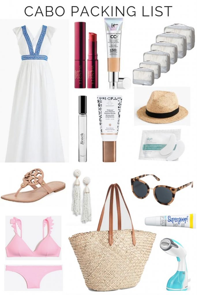 BEACH VACATION PACKING LIST - CABO | Are you headed to the beach this summer? I am sharing my cabo packing list on the blog, but it is the perfect guide for what to take to any beach trip.  Whether you are headed to Cabo in Mexico, or Rosemary beach, I have got you covered with outfit ideas and beach essentials.
