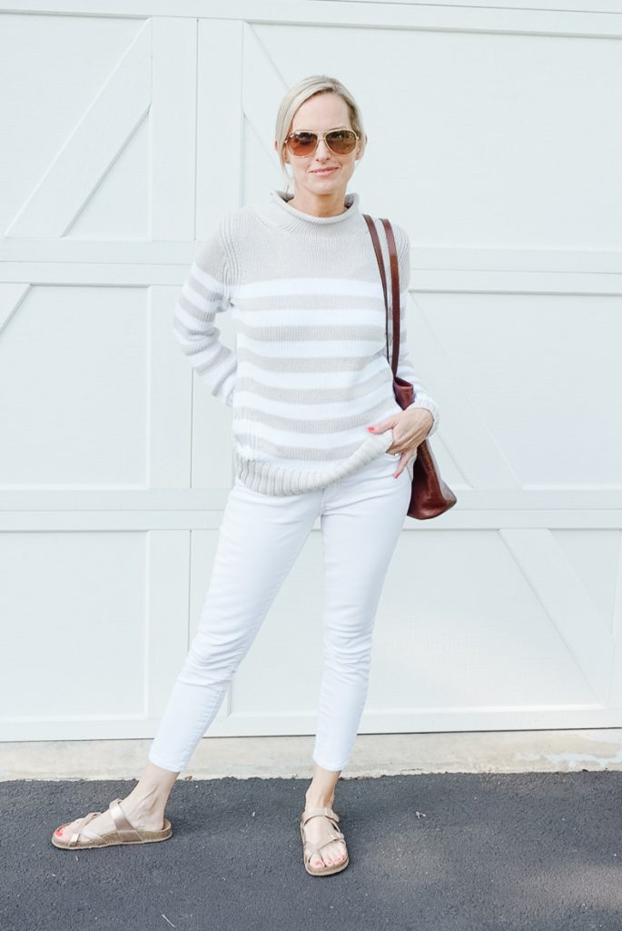 THE PERFECT SUMMER SWEATER | I am sharing the perfect neutral summer sweater on the blog today. It is the perfect layer for chilly summer nights.