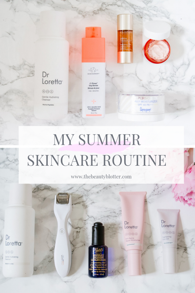 SUMMER SKINCARE ROUTINE | I am sharing my summer skincare routine for mature, sensitive skin with rosacea. It is simple and effective with just a few steps in the morning and evening. PErfect anti-aging regimen for the busy woman