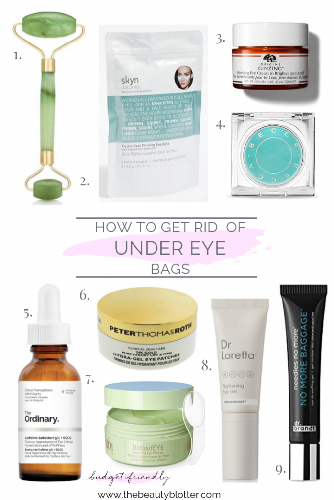 HOW TO GET RID OF UNDER EYE BAGS | I am sharing my best tips & product recommendations for how to get rid of under eye bags on the blog today, including some great bargain options. I share my tried and true puffy eye remedy. #undereyebags #undereyebagsremedy #over40 #puffyeyes