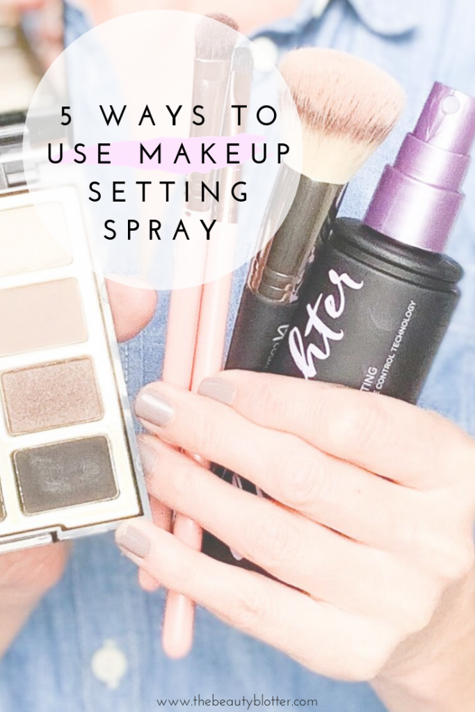 5 WAYS TO USE MAKEUP SETTING SPRAY | Does your eyeliner smudge, or do you have problems with your concealer creasing under your eye? I am sharing 5 ways to use makeup setting spray on the bog today, including my best beauty hacks & makeup secrets  for fixing some common makeup mishaps.
