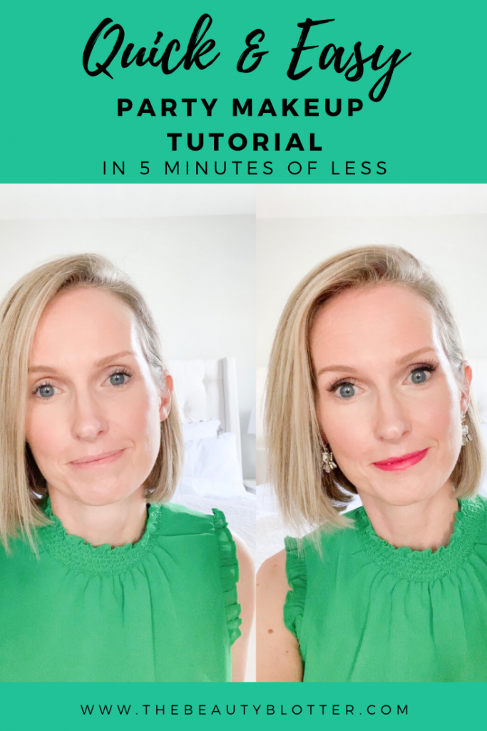 PARTY READY MAKEUP IN 5 MINUTES OR LESS | I am sharing a makeup tutorial and products on how to get party ready makeup in 5 minutes or less with my party ready makeup kit.
