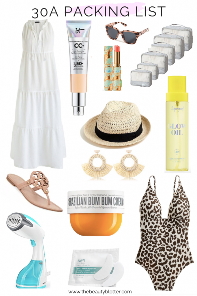WHAT TO PACK FOR SPRING BREAK IN FLORIDA | I am sharing my 30A beach trip essentials today on the blog and tell you what to pack for spring break in florida.
