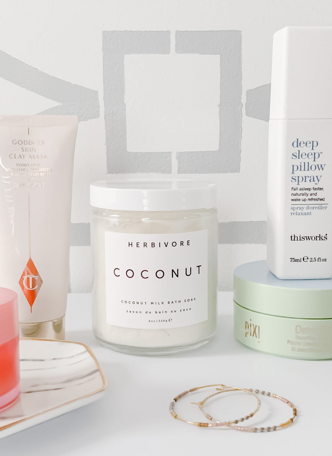 MY FAVORITE SELF CARE BEAUTY PRODUCTS | I am sharing a few of my favorite self care beauty products that have become part of my beauty routine, including my favorite budget friendly pajamas, drugstore eye patches and a detergent that smells so good and will make your home smell like a fancy hotel. #selfcare