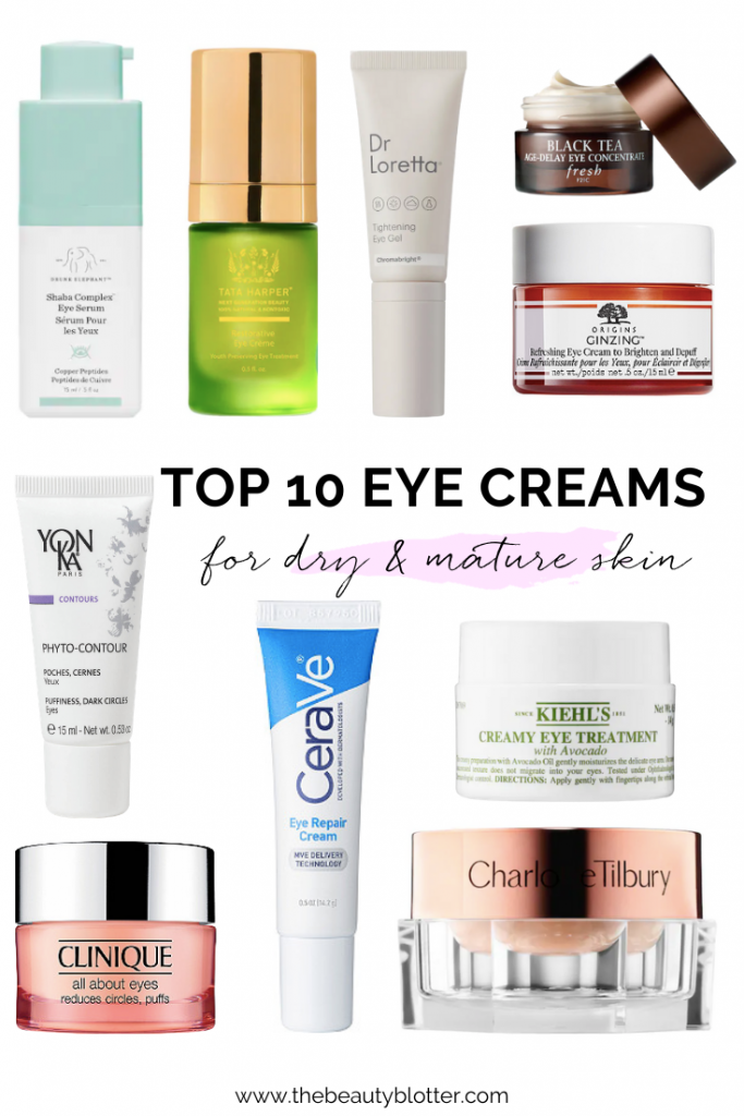 THE BEST ANTI-AGING EYE CREAMS FOR WOMEN OVER 40 | I am sharing the best anti-aging eye creams for women over 40, including, affordable drugstore, luxury, and non-toxic options to fight wrinkles, puffiness, dark circles and under eye bags.  These are great for dry, sensitive and mature skin and will work for women in their 30's, 40's and over 50