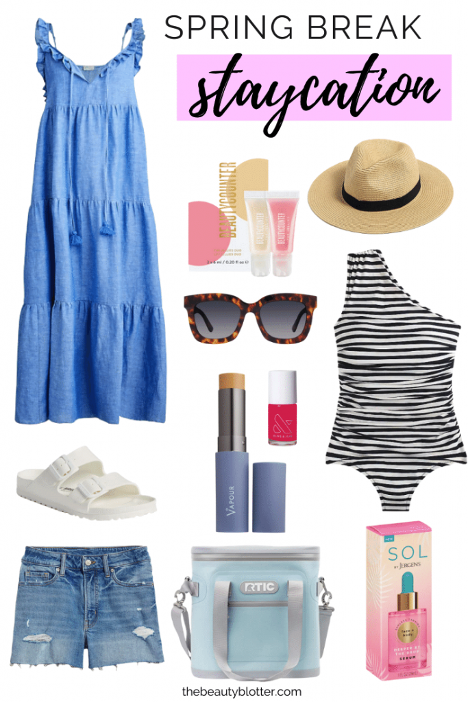 THE BEST SPRING STAYCATION ESSENTIALS | I am sharing the best spring break vacation essentials for some fun in the sun.